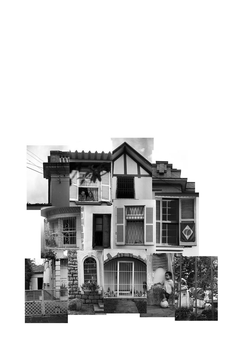 (des)construções #1 fotografia e colagem 95 x 98 cm