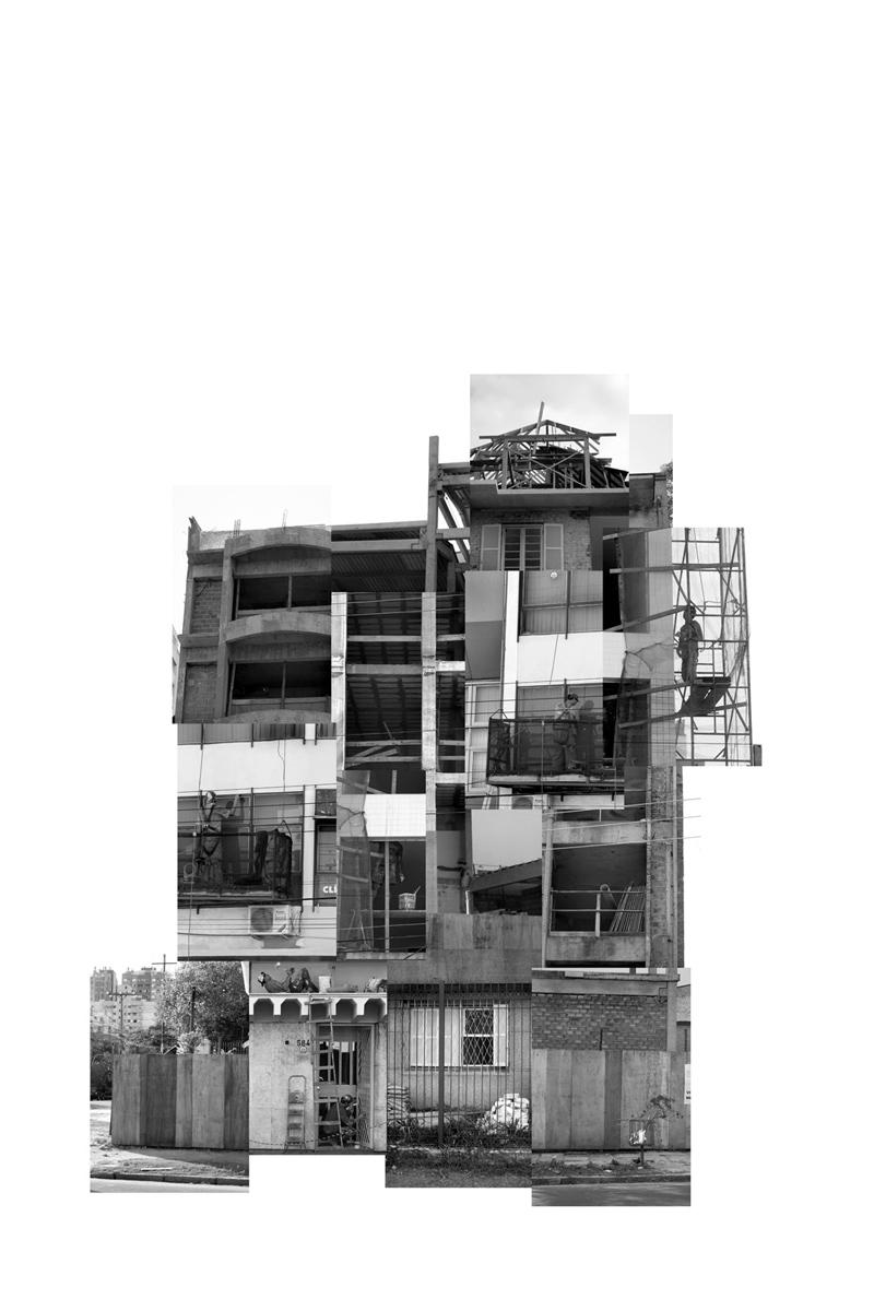 (des)construções #18 fotografia e colagem 91 x 105 cm
