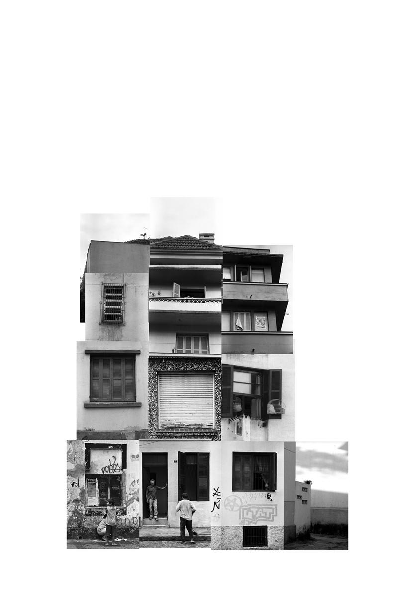 (des)construções #2 fotografia e colagem 85 x 100 cm