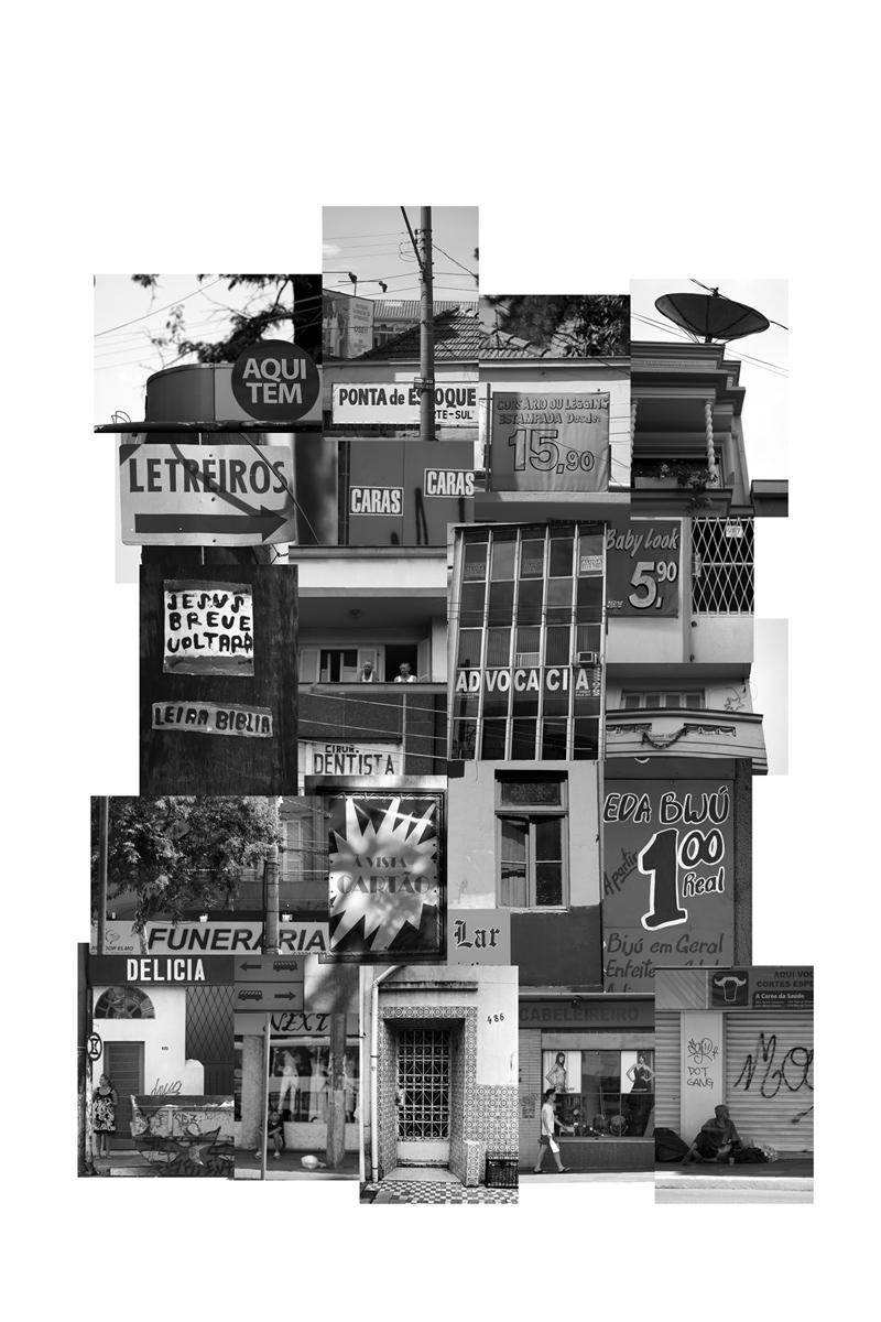 (des)construções #3 fotografia e colagem 95 x 123 cm