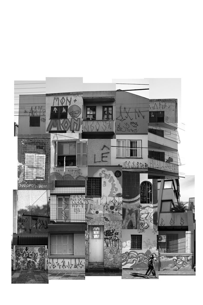 (des)construções #8 fotografia e colagem 100 x 110 cm