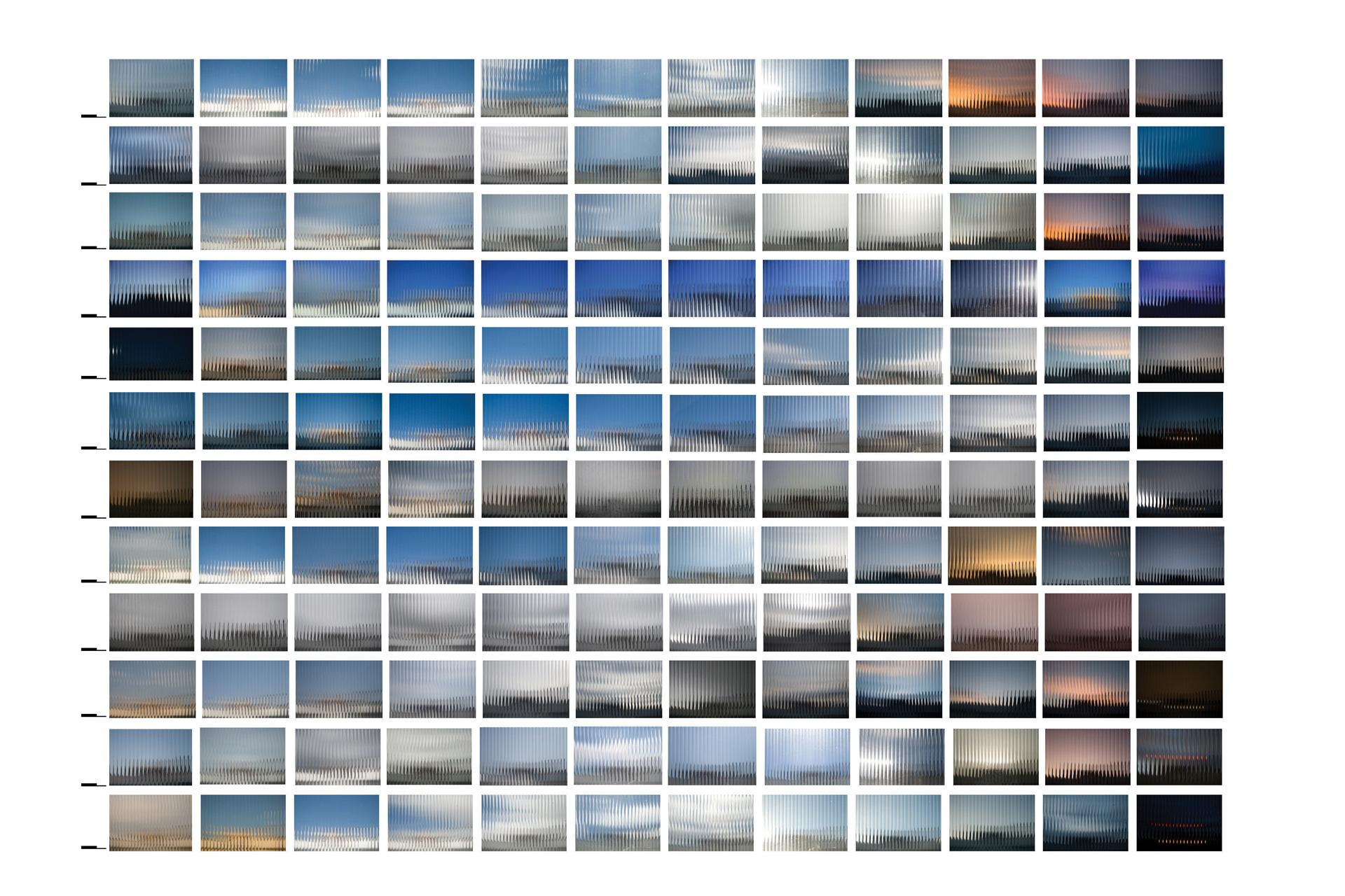 escala de cor do tempo - para o ano que passou